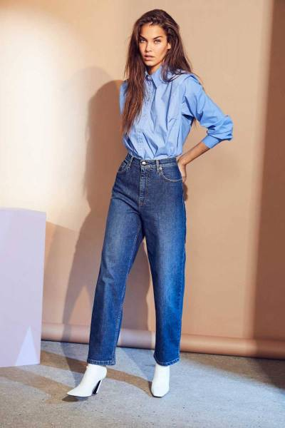 Coriolis box shoulder shirt new blue Co'Couture