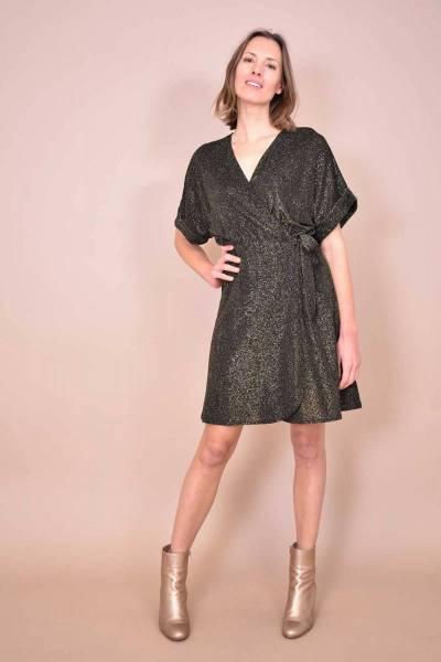 Bastia robe noir/or La Fee Maraboutee