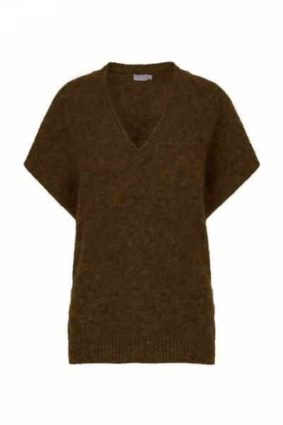 Knit top sweater dark moss Noman'sland