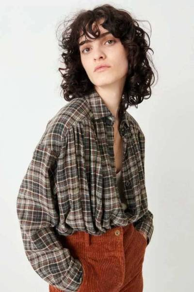 Licati tierragrey blouse Sessun