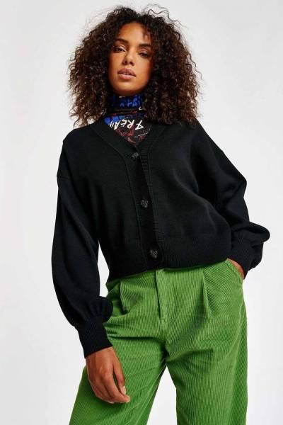 Addis v-neck cardigan black Essentiel