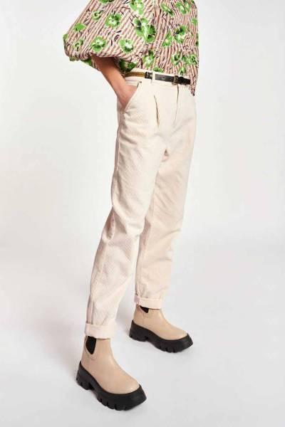 Ashtonishing corduroy pants off white Essentiel