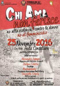 Giornata mondiale contro la violenza sulle donne21-28 Novembre 2016