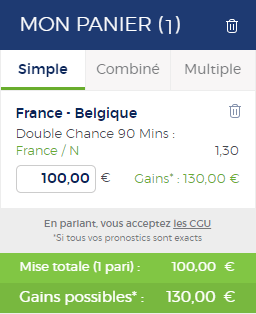 Coupon de pari France ou match nul