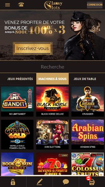 Classy Slots casino bonus gratuits sans depot