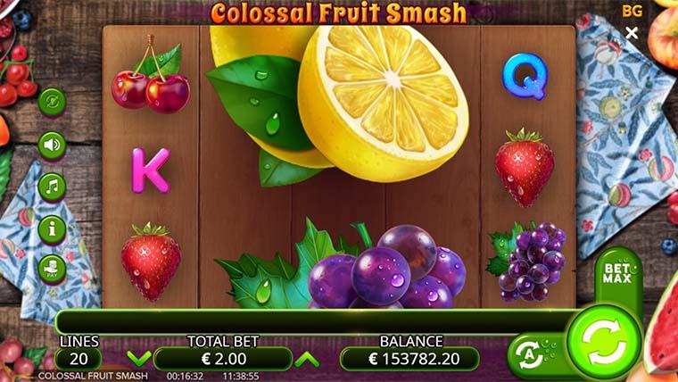 La machine a sous Colossal Fruit Smash de Booming Gaming
