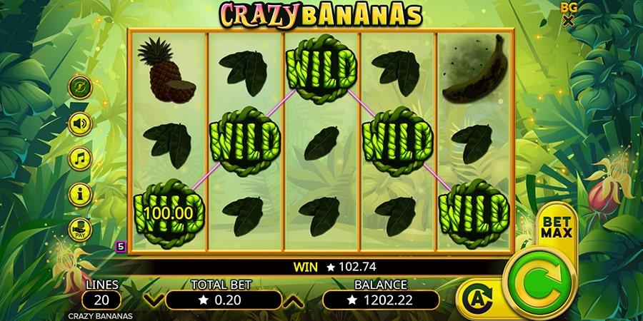 La machine a sous Crazy Bananas de Booming-