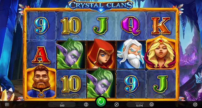 La machine a sous Crystal Clans de Isoftbet-min