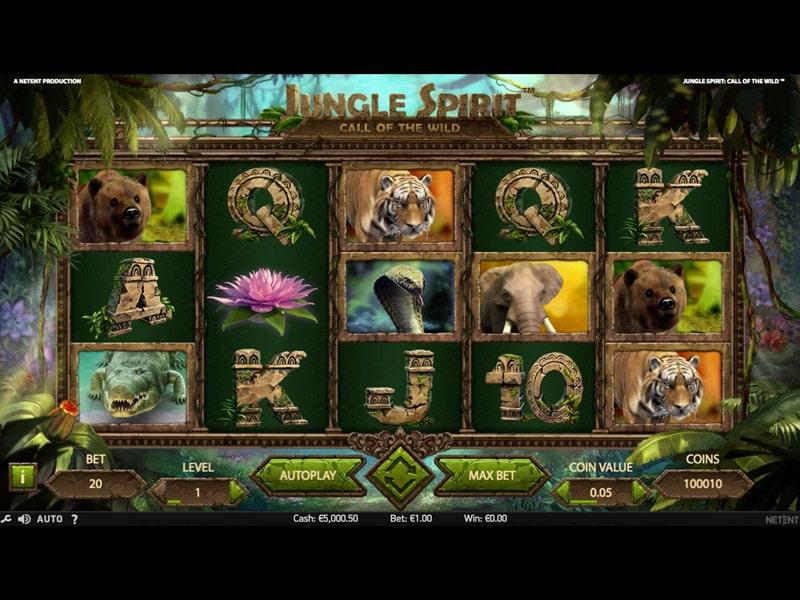 La machine a sous Jungle Spirit de Netent-min