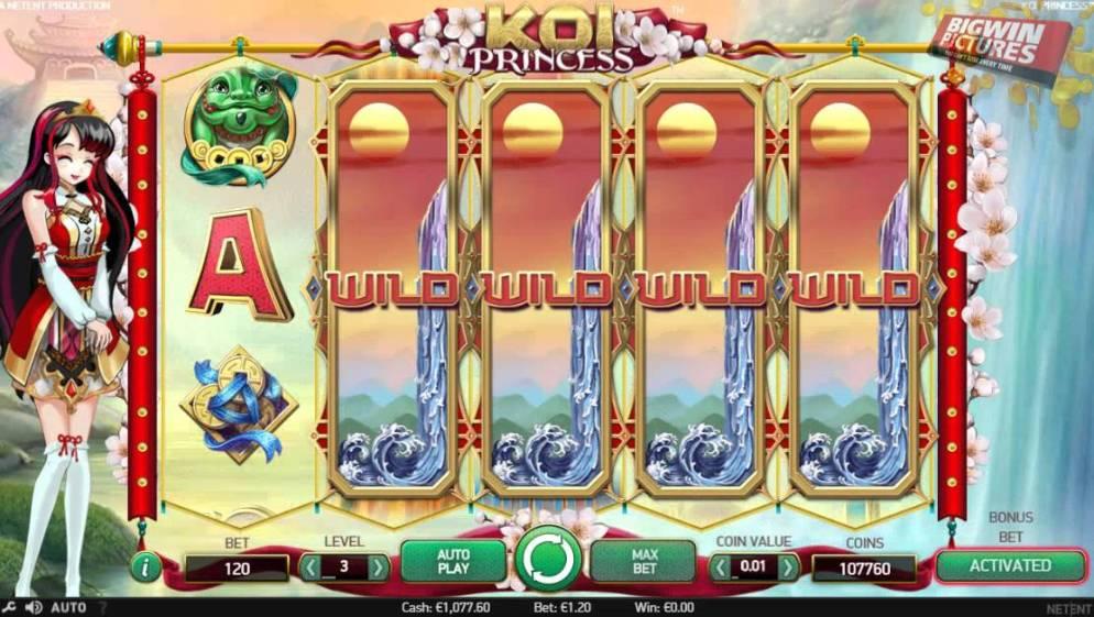 La machine a sous Koi Princess de Netent-min