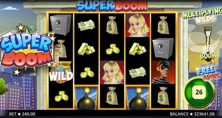 La machine a sous Super boom de Booming Games-min