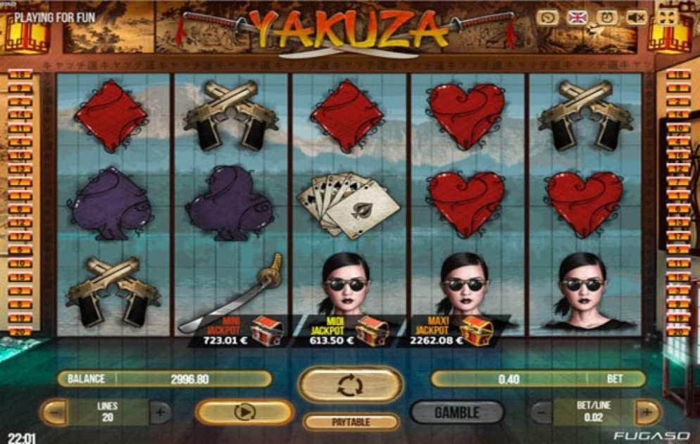 La machine a sous Yakuza de Fugaso
