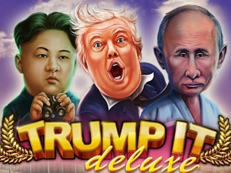 Un homme gagne le jackpot sur la machine à sous Trump it deluxe de Fugaso.