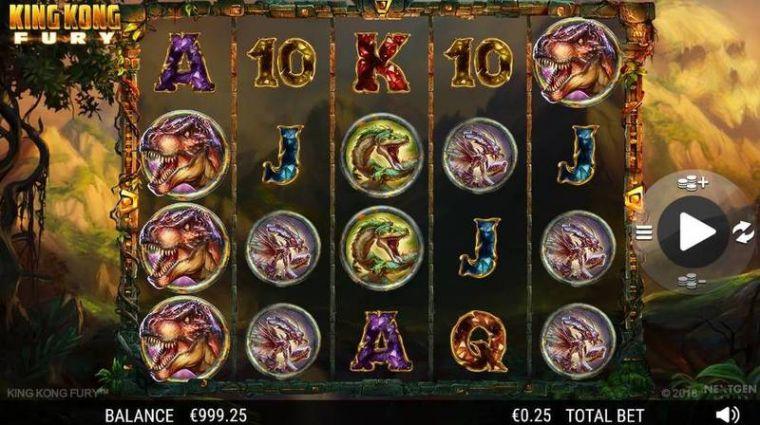 La machine a sous King Kong Fury de NEXTGEN GAMING dans les casinos en ligne de France