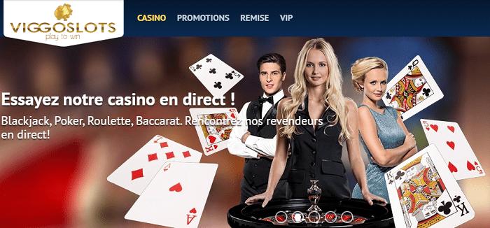 viggoslots casino jeux de table avec croupiers en direct