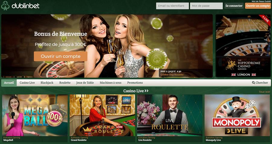 dublinbet casino gratuit, casino en direct fiable et sur