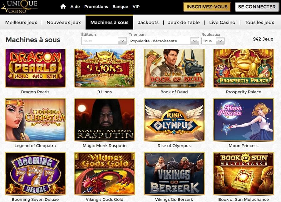 unique casino avis revue et critique du casino en ligne