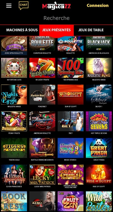 casino magicazz sur smarphone