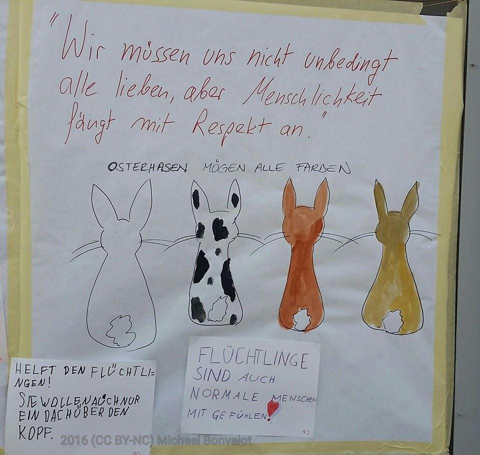 Osterhasen mögen alle Farben. Kinder malen für #liesingfüralle