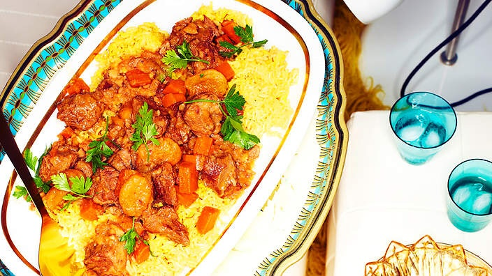 BEST of Azerbaijan food : Lamb Pilaf (Plov) !