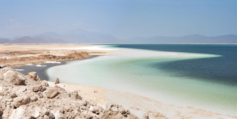 Djibouti, at the mouth of the Red Sea, with the saltiest water on earth Lake Assal!