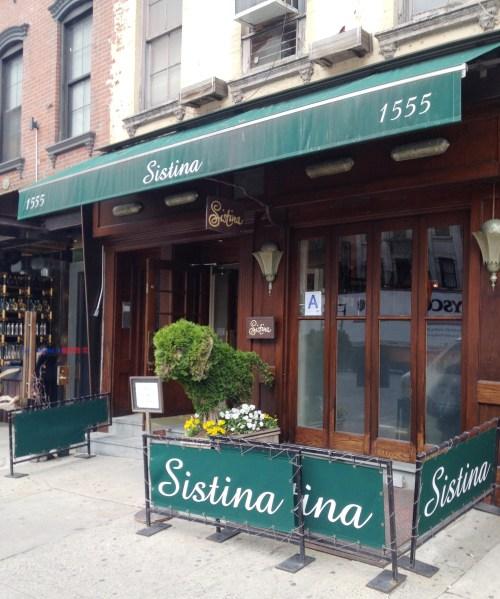 Woody Allen's New York: Sistina Ristorante !