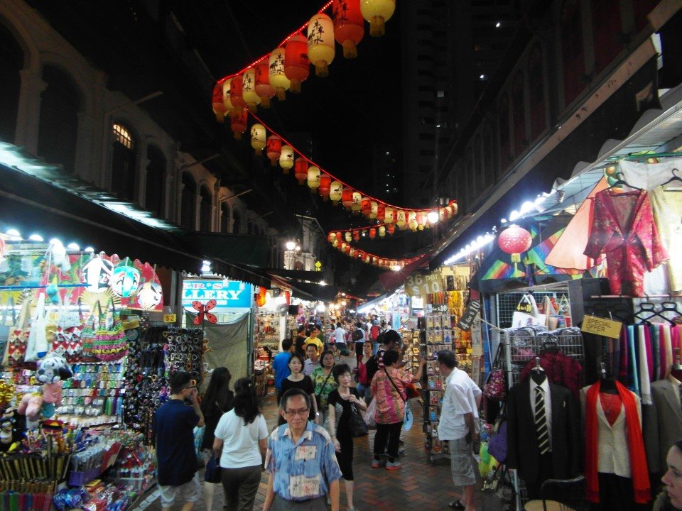 Singapore Chinatown at night