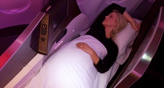 Virgin Atlantic Upper Class Suite long lie-flat bed