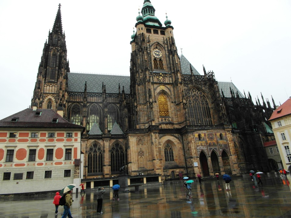 St. Vitus Cathedral inside the Prague Castle complex