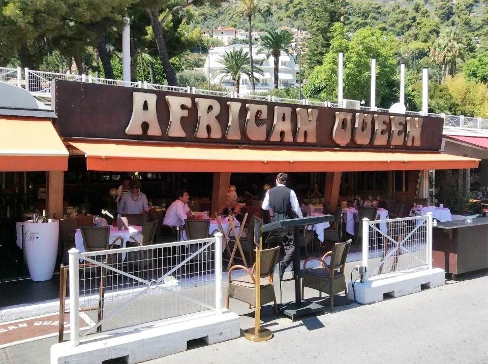 African Queen restaurant in the port of Beaulieu-sur-Mer
