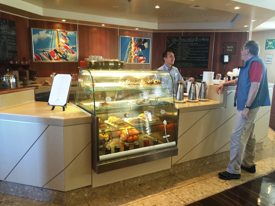 Yacht Cruising the Caribbean in luxury with Windstar Cruises : Morning Coffee thru Afternoon Tea at the Yacht Club