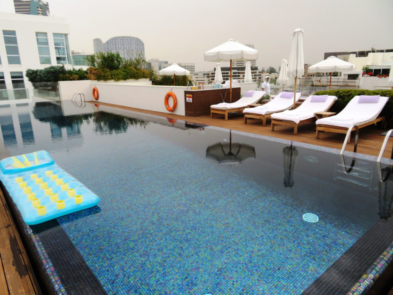 Vacationing in Israel ... Rooftop Infinity Pool at The Norman Hotel in Tel Aviv