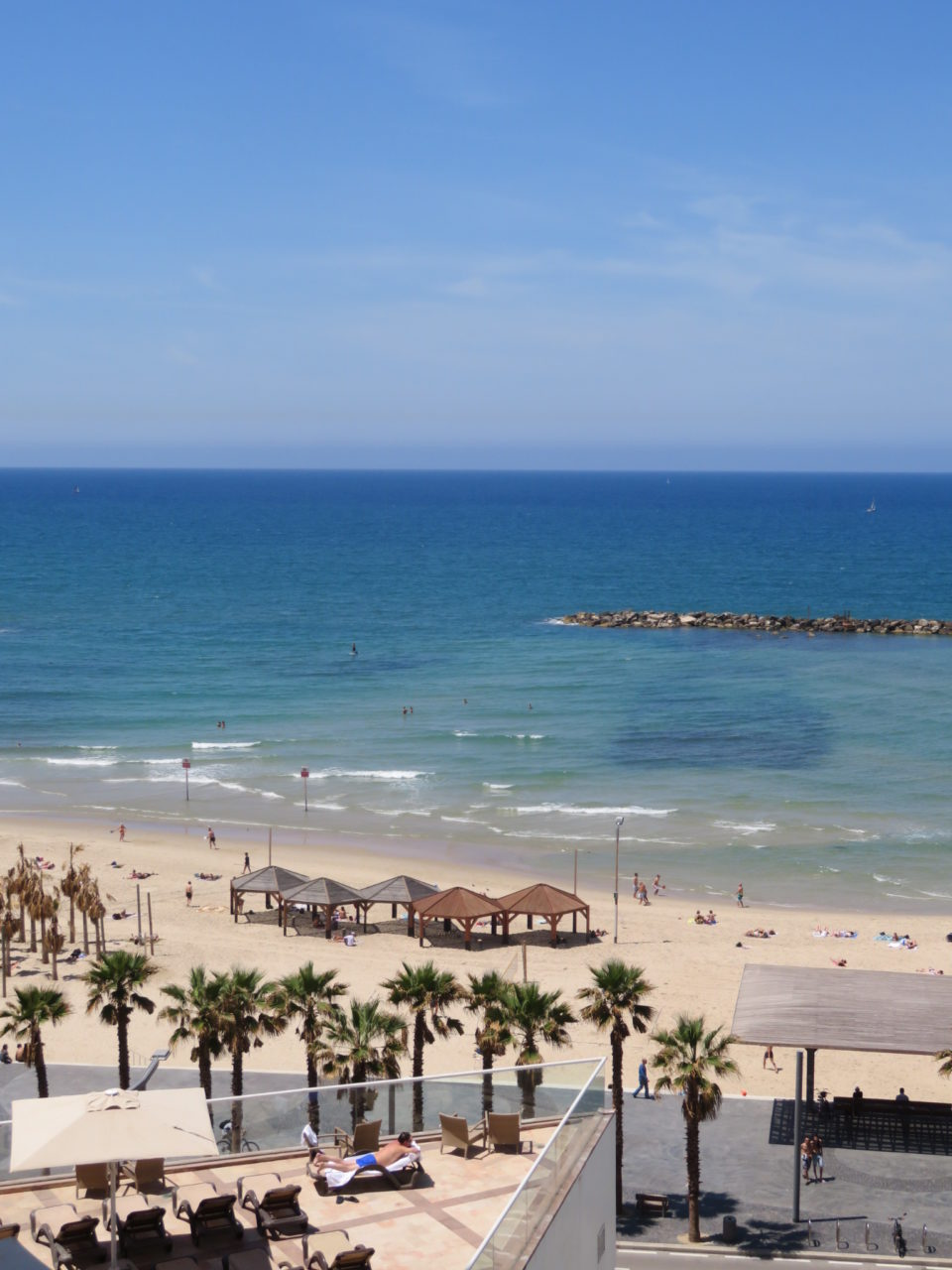 Vacationing in Israel ... The Tel Aviv Beach viewed from the Dan Tel Aviv Hotel