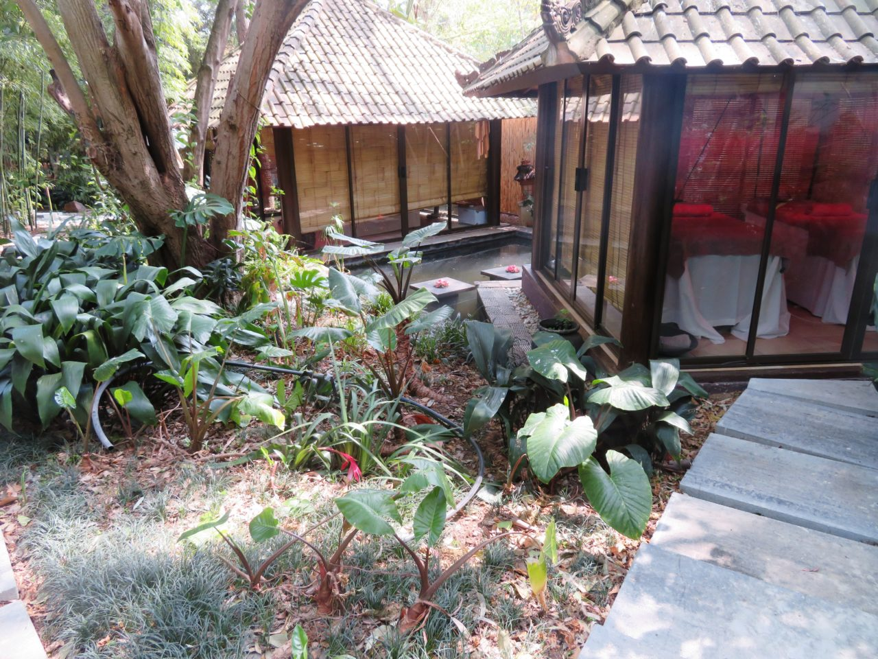 Fairlawns Boutique Hotel & Spa - Johannesburg, South Africa ! Massage Cabanas in the Balinese Garden of the Spa