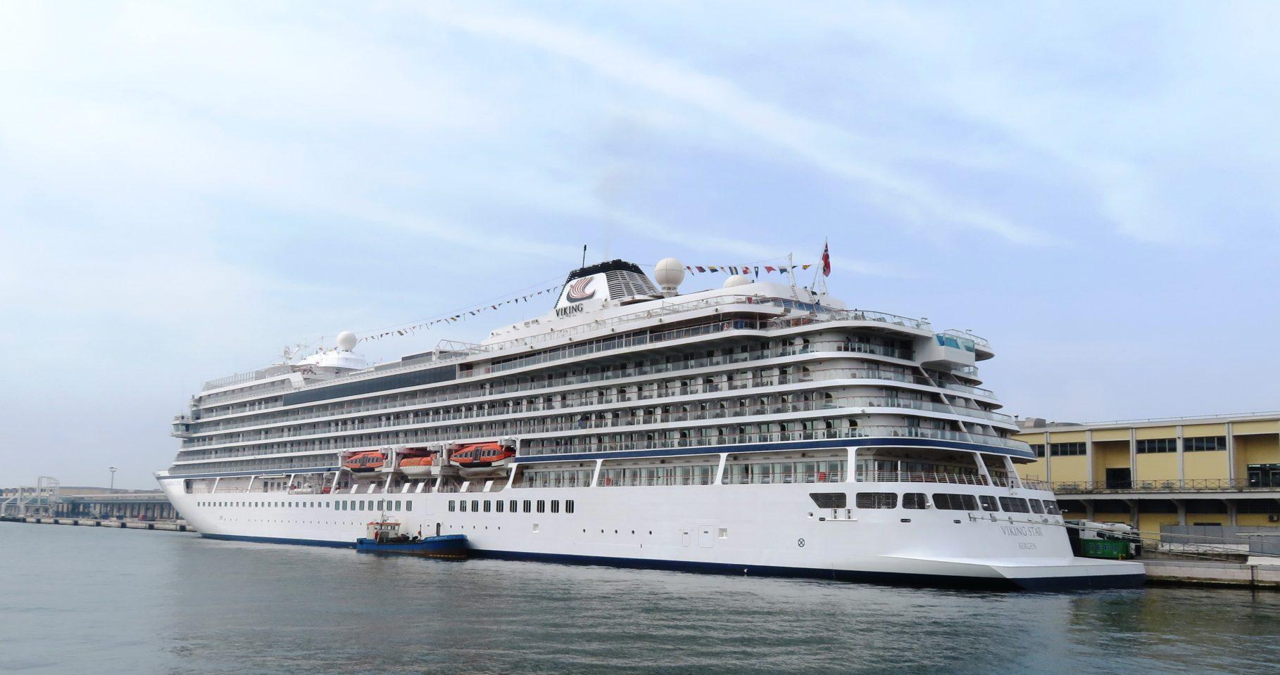 Viking Ocean Cruise Ships ~ Viking Star docked in Venice Italy