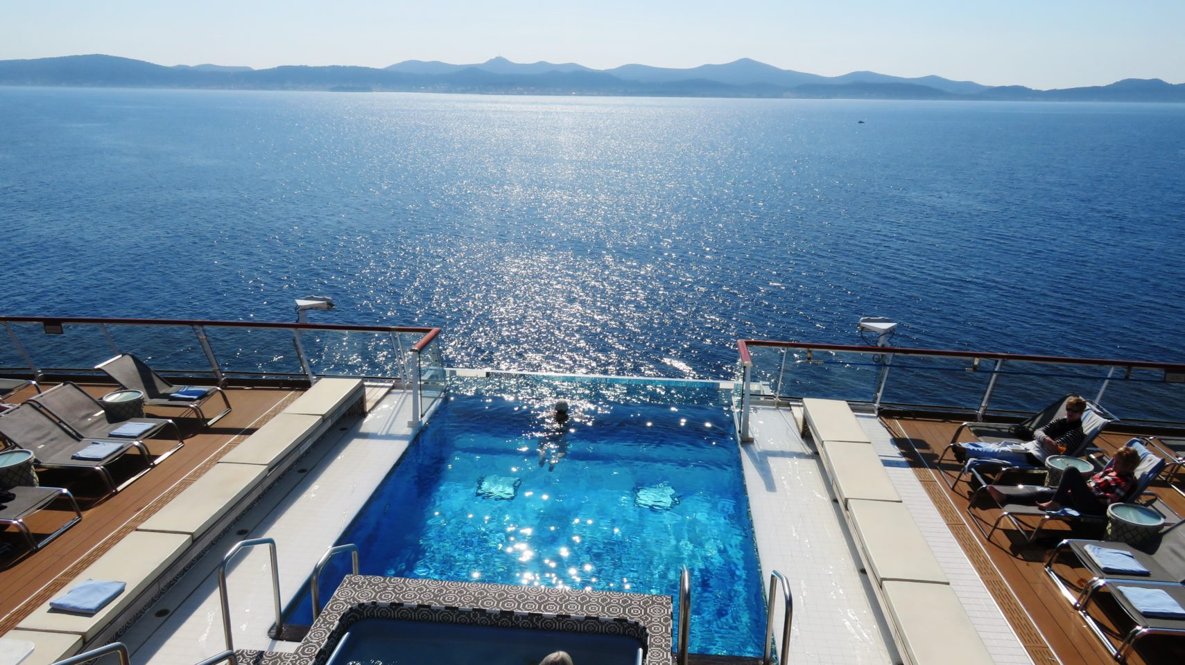 <em><strong>Viking Ocean Cruise Ships ~</strong> </em> Infinity Pool area on the Viking Star