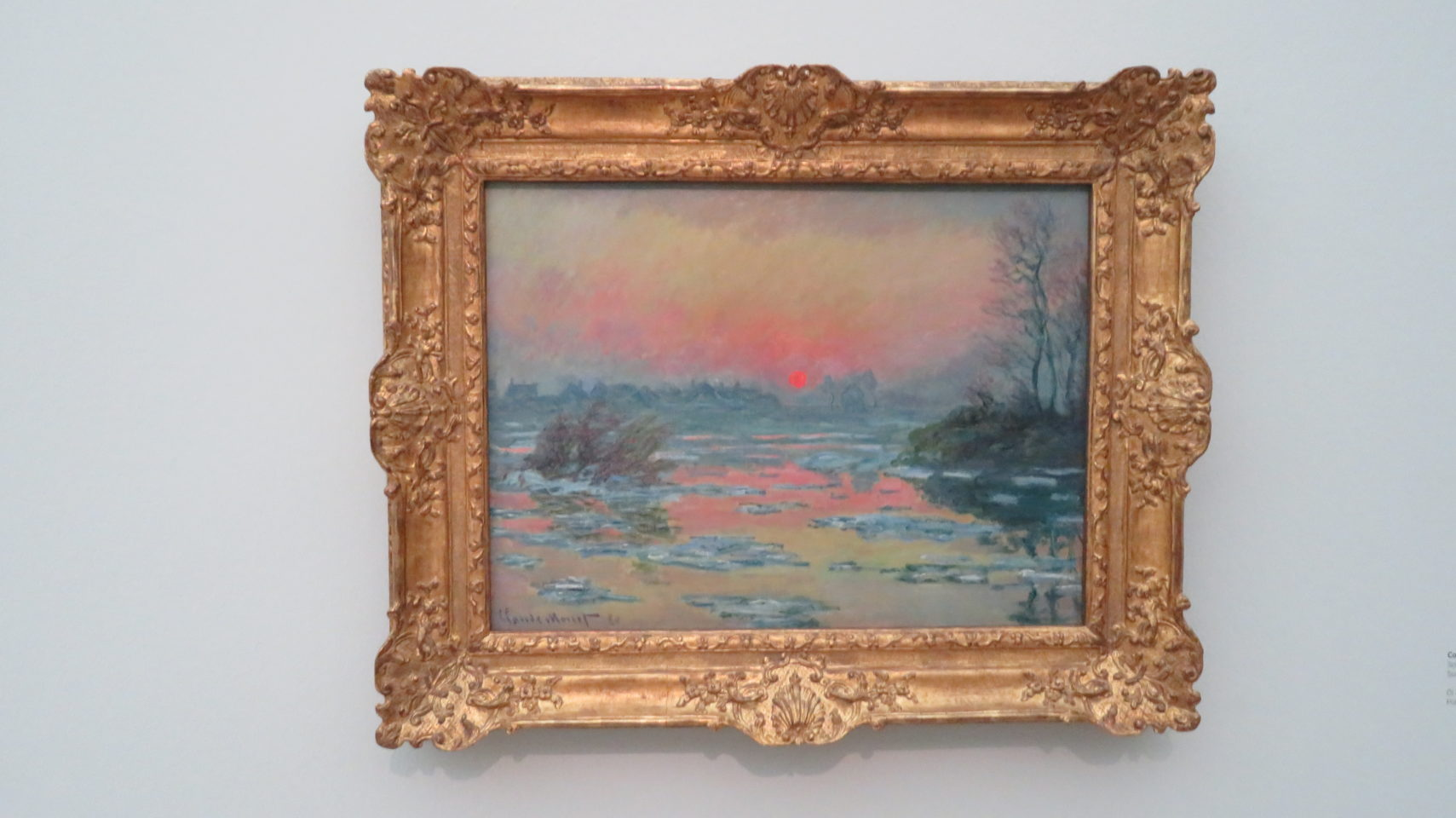 Coucher de Soleil sur la Seine, L'Hiver by Claude Monet at the Fondation Beyeler in Basel, Switzerland