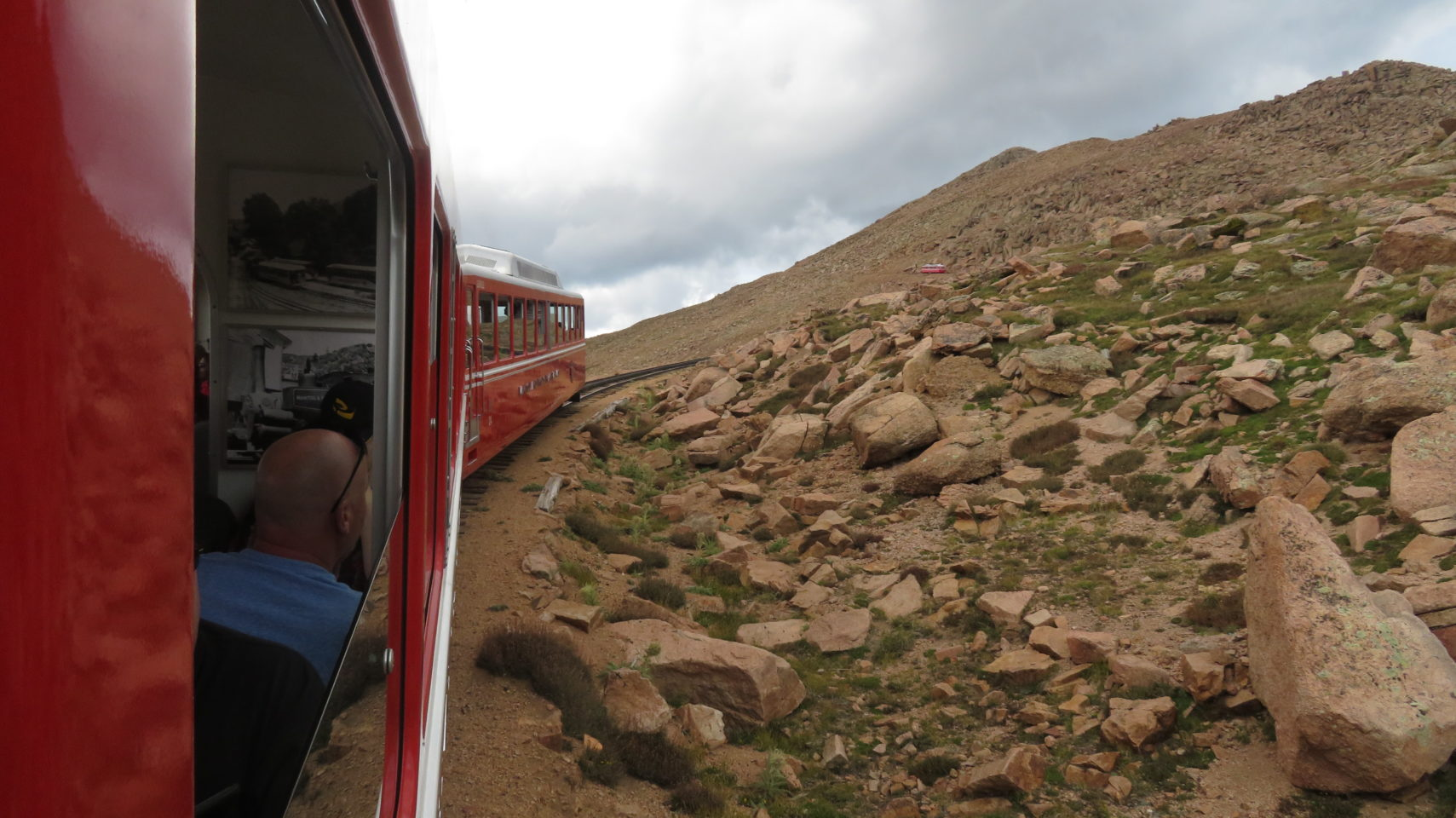 Climbing the steep slopes of Pikes Peak abaord the Pikes Peak Cog Railway !