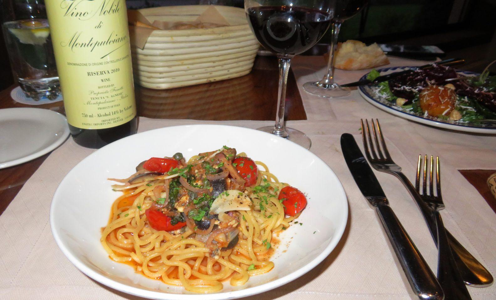 The Broadmoor Restaurants ~ Bucatini Puttanesca at Ristorante del Lago
