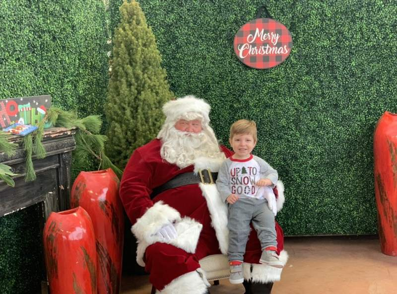 child with santa clause