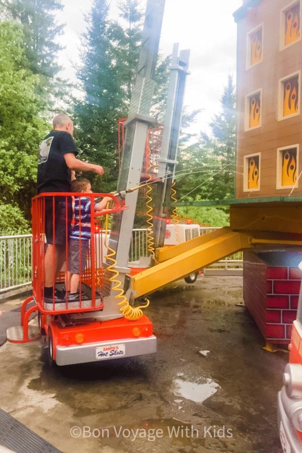 Firehouse Ride at Santa's Village
