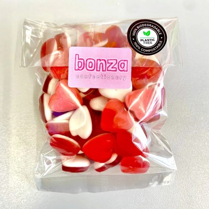 Bonza Confectionery - Red Heart Throbs Front
