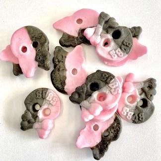 Bonza Confectionery - Rasp + Liquorice Foam Skulls 2