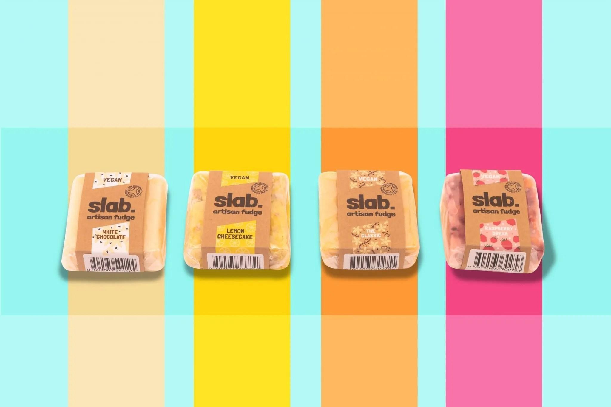 Slab Artisan Fudge Creative Photo - Vegan Stripes