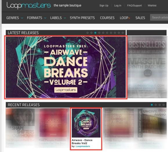 AIRWAVE – DANCE BREAKS VOLUME 2 – NOW EXCLUSIVE ON LOOPMASTERS