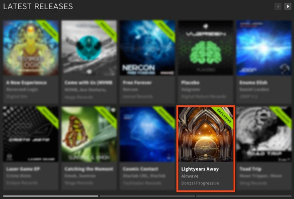 AIRWAVE – LIGHTYEARS AWAY FROM HERE FEATURED BY BEATPORT