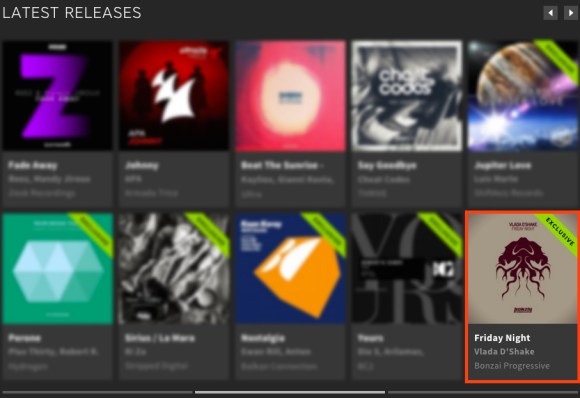 VLADA D'SHAKE – FRIDAY NIGHT FEATURED BY BEATPORT