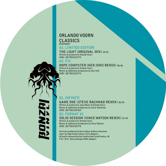 ORLANDO VOORN – CLASSICS (BONZAI VINYL) – PRE-SALE AVAILABLE NOW!