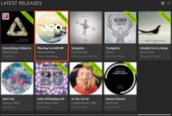 LORYS DE FALCO – THIS DAY IS A GIFT EP FEATURED BY BEATPORT