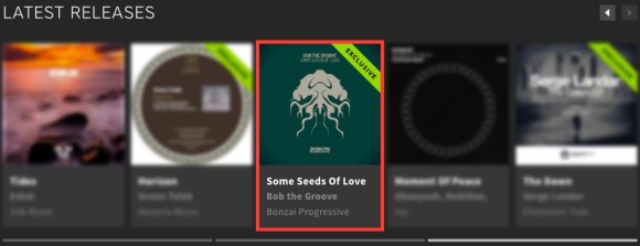 BOB THE GROOVE – SOME SEEDS OF LOVE FEATURED BY BEATPORT